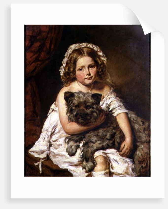 Young girl with her dog by English School