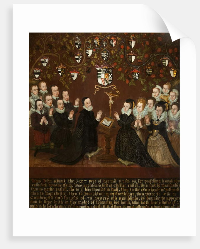 John and Mary Towneley and Family, 1601 by English School