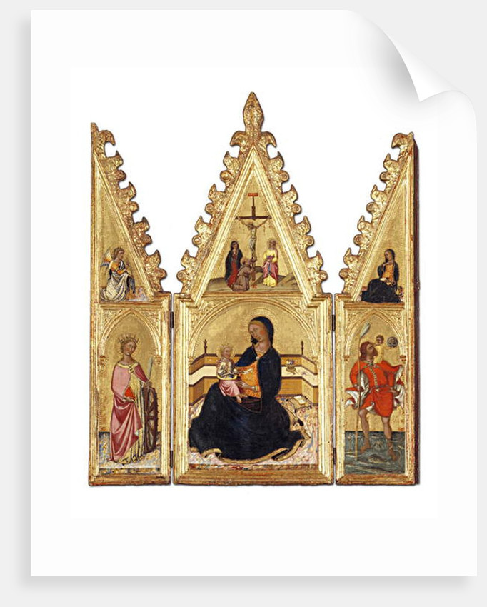 The Madonna of the Humility with St. Catherine of Alexandria, St. Christopher, the Annunciation and the Crucifixion by Niccolo di Buonaccorso