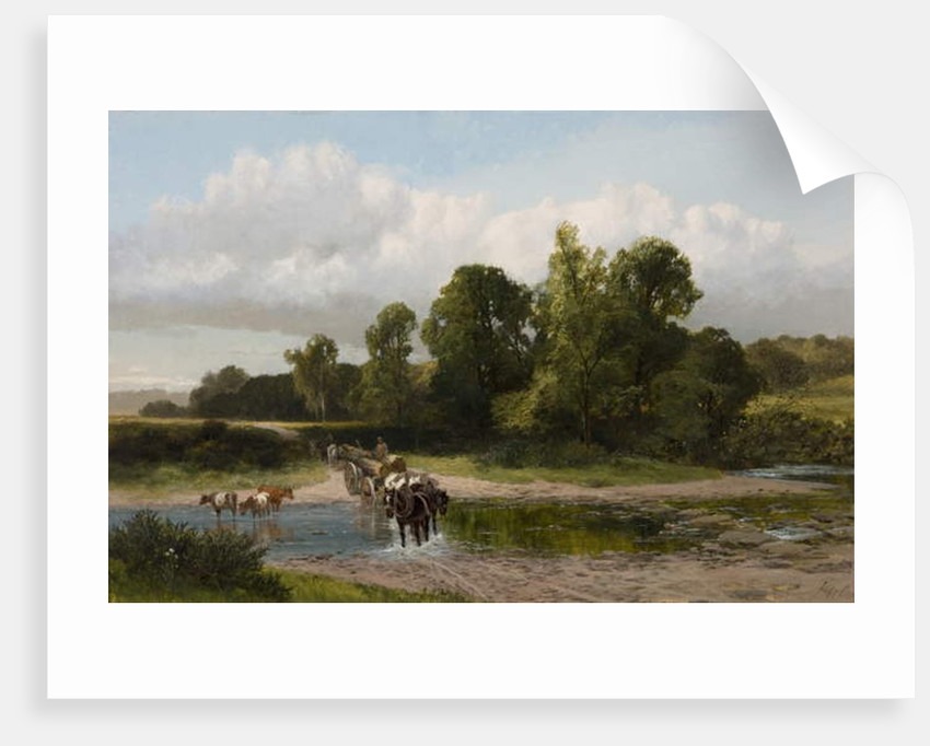 A Ford on the Whitadder, Berwickshire by James Peel