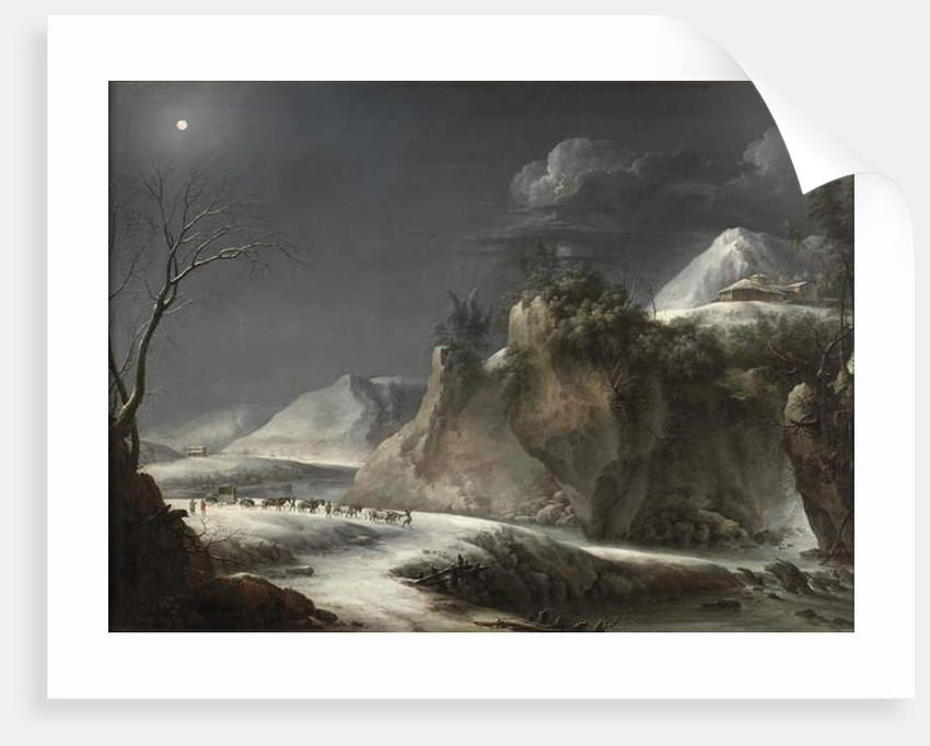 Winter Scene in the Italian Alps, c.1735-1765 by Francesco Foschi