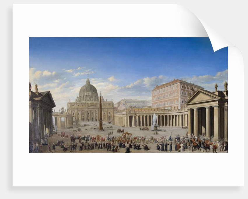 St. Peter's, Rome by Giovanni Paolo Panini