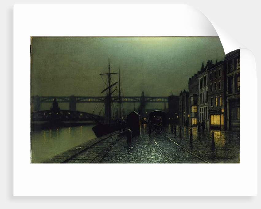 The Quayside, Newcastle upon Tyne, 1895 by Arthur Grimshaw