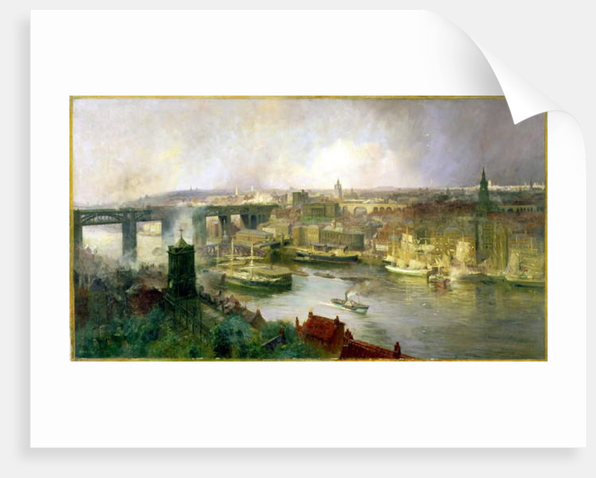 Newcastle upon Tyne from Gateshead, 1895 by Niels Moller Lund