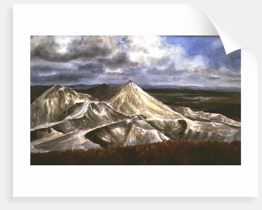 Cornish Landscape - China Clay quarries at St. Austell by Vic Trevett