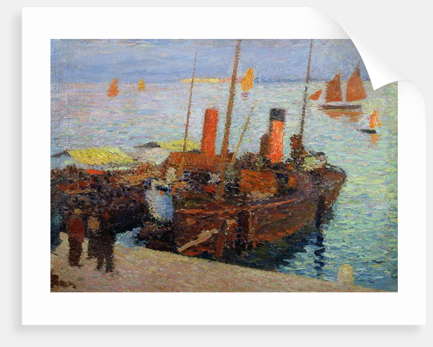 Boats in the Bay of St. Malo, c.1910 by Henri Martin