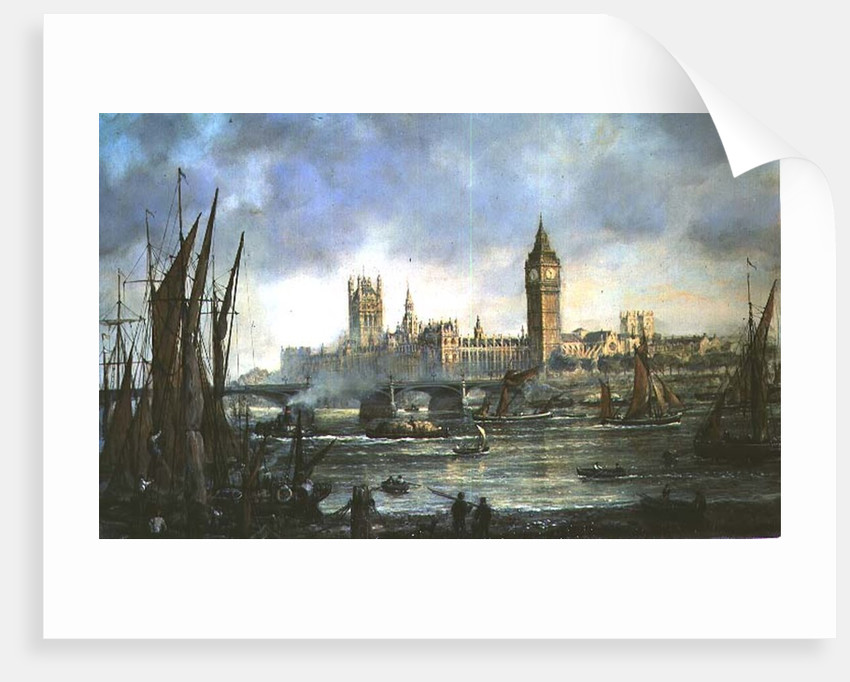 The Houses of Parliament and Westminster Bridge by Richard Willis