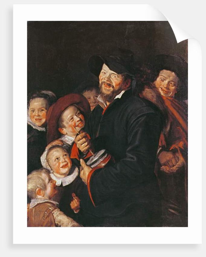 Man Amusing Children with a Rummel by Frans (School of) Hals