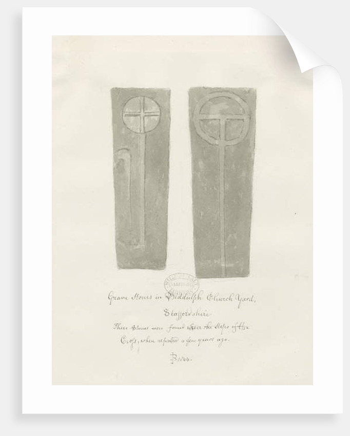 Grave stones in Biddulph Churchyard by John Buckler