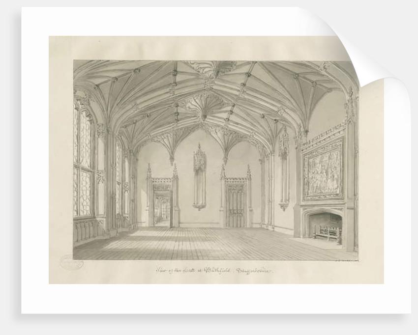 Interior of Blithfield Hall by John Chessell Buckler