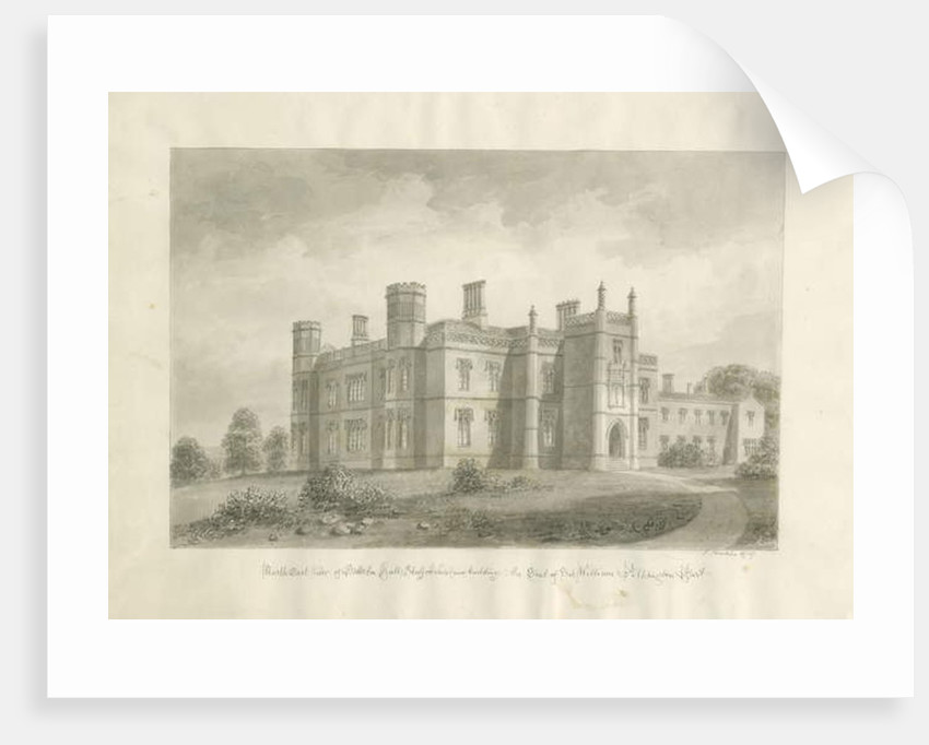 Butterton Hall by John Buckler