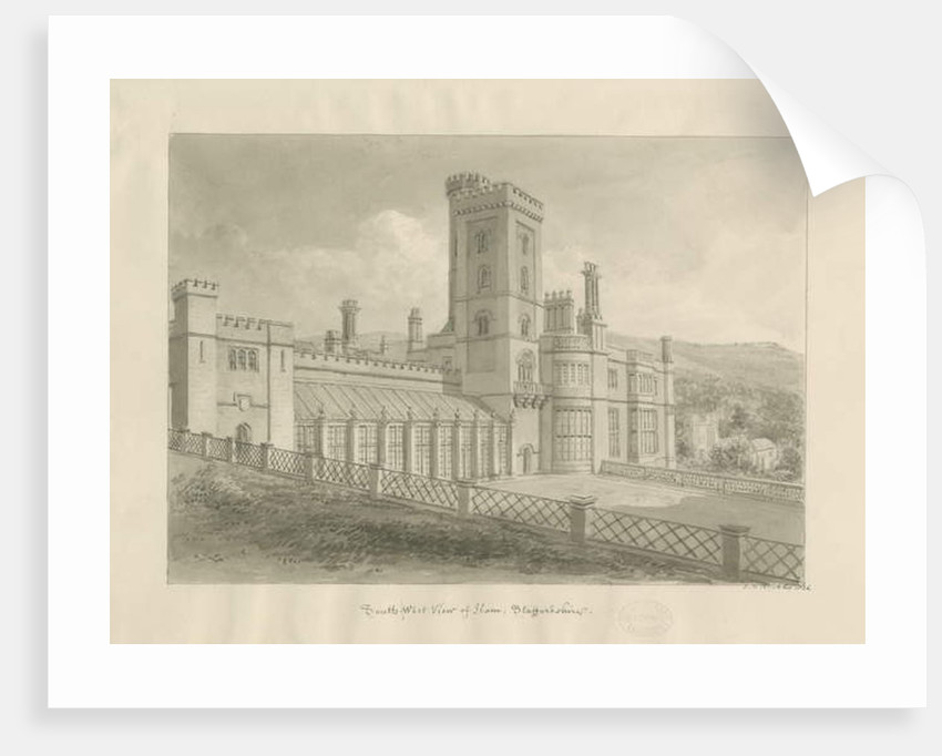Ilam Hall by John Chessell Buckler