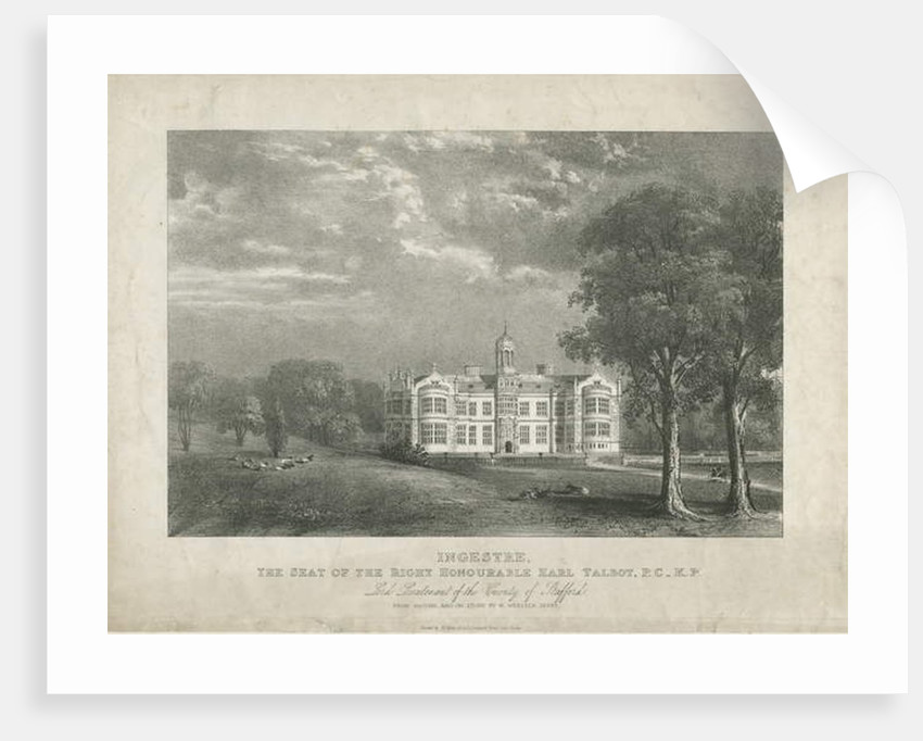 Ingestre Hall by Moses Webster