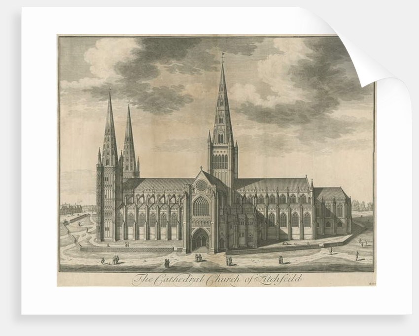 Lichfield Cathedral - South View by School English