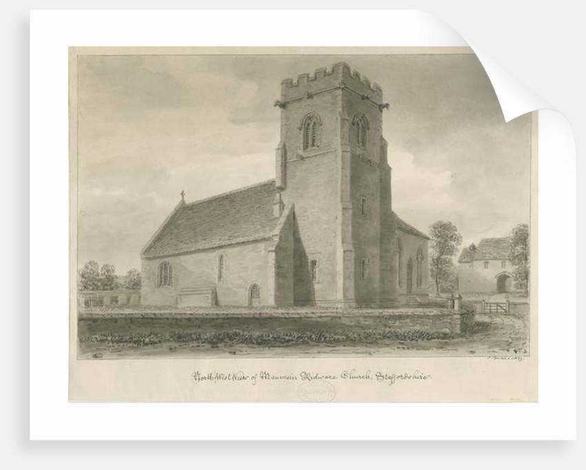 Mavesyn Ridware Church by John Buckler