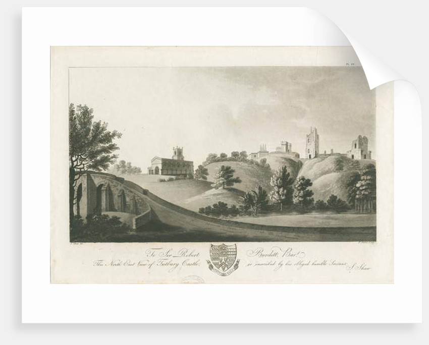 Tutbury Castle - North East View by Stebbing Shaw