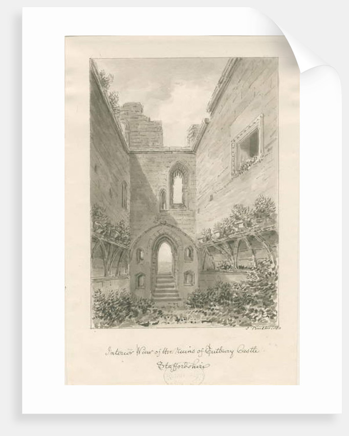 Tutbury Castle - Interior of Ruins by John Buckler