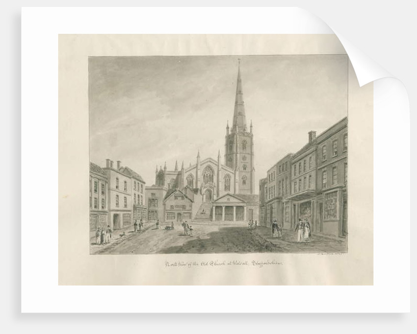 Walsall Town and Church by John Buckler