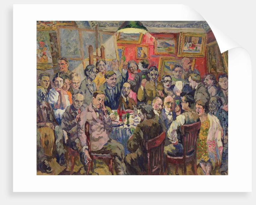 Moscow Artists, 1927 by Aristarkh Vasilievic Lentulov