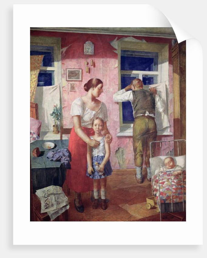 Alarm, 1934 by Kuzma Sergeevich Petrov-Vodkin