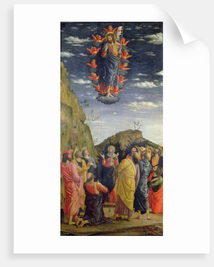 The Ascension, left hand panel from the Altarpiece by Andrea Mantegna