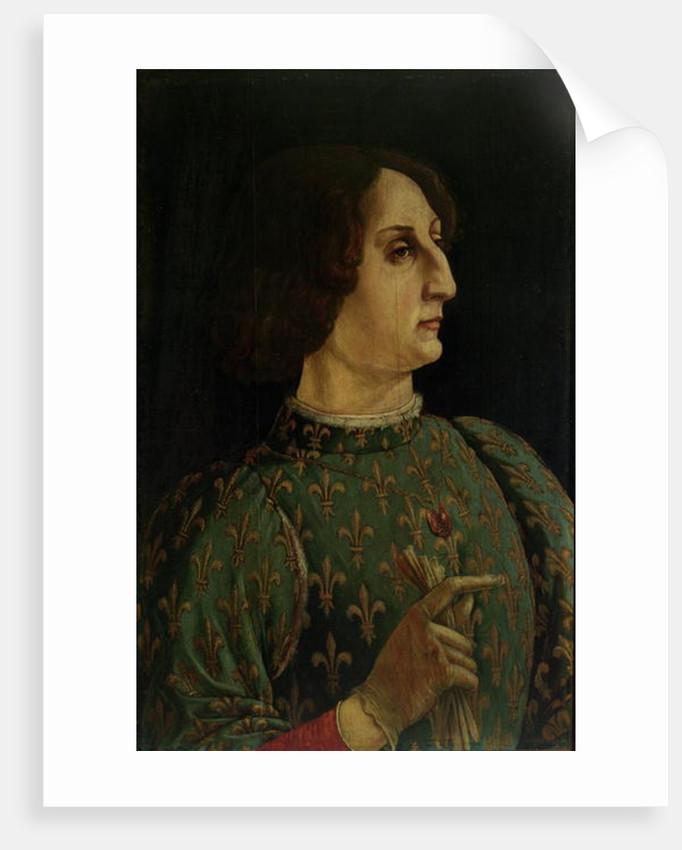 Portrait of Galeazzo Mario Sforza by Piero del Pollaiolo