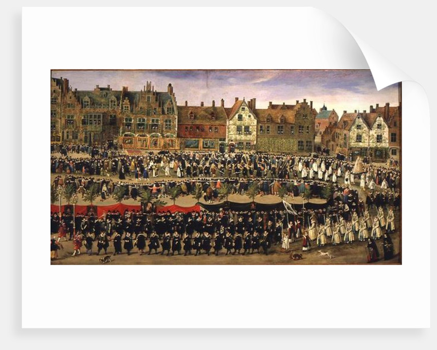 Procession of the Maids of the Sablon in Brussels by Antoine or Anthonis Sallaert