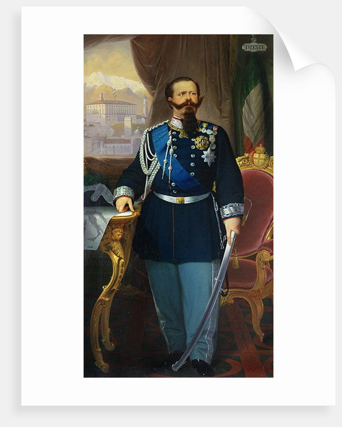 Portrait of Victor Emmanuel II King of Sardinia and Italy by Antonio Dugoni