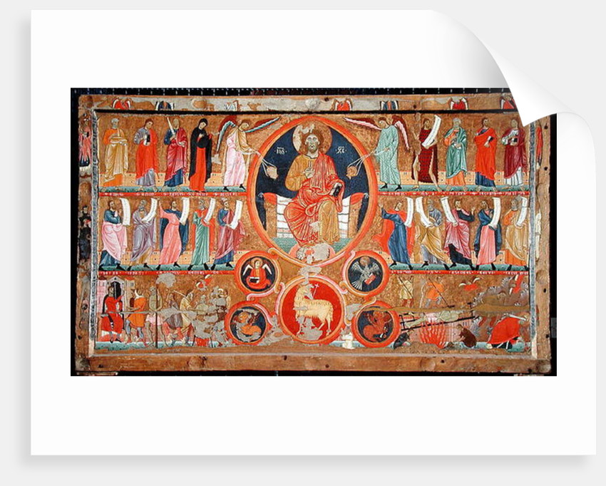 Altar frontal depicting Christ in Glory with saints and prophets and the martyrdom of St. Felix by Master of San Felice di Giano