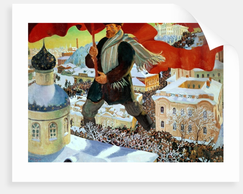 Bolshevik by Boris Mikhailovich Kustodiev