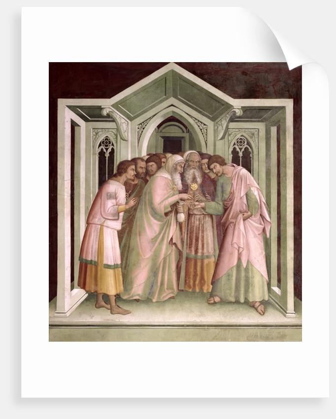 Judas Receiving Payment for his Betrayal by Barna da Siena