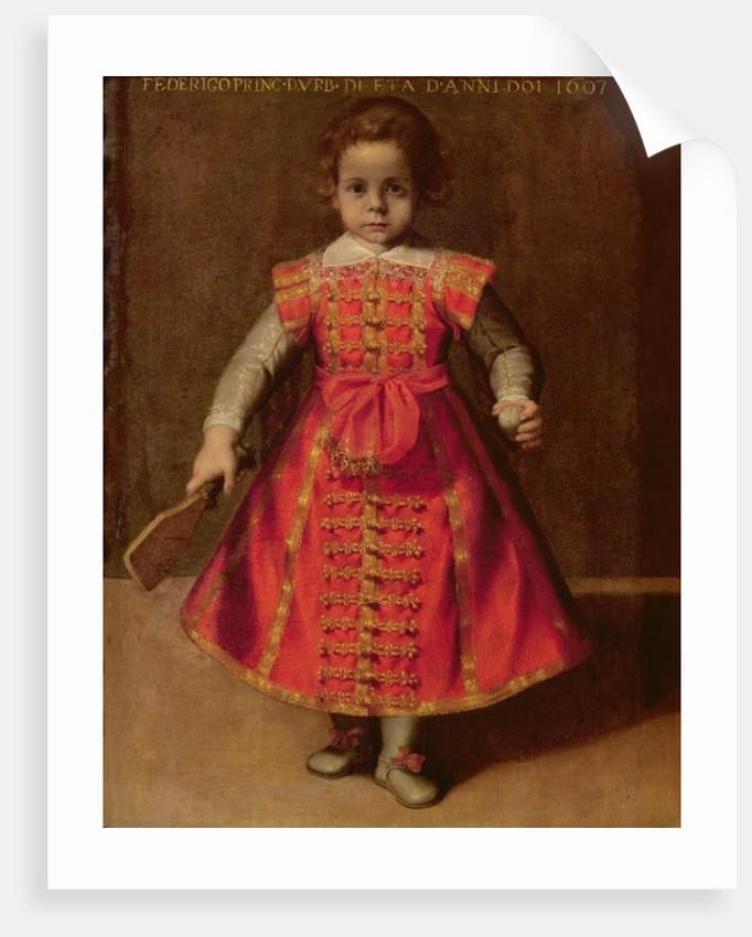 Federico Ubaldo della Rovere aged 2 by Federico Fiori Barocci or Baroccio