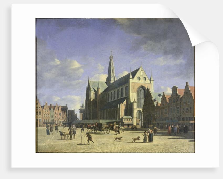 The Groote Markt Haarlem by Gerrit Adriaensz Berckheyde