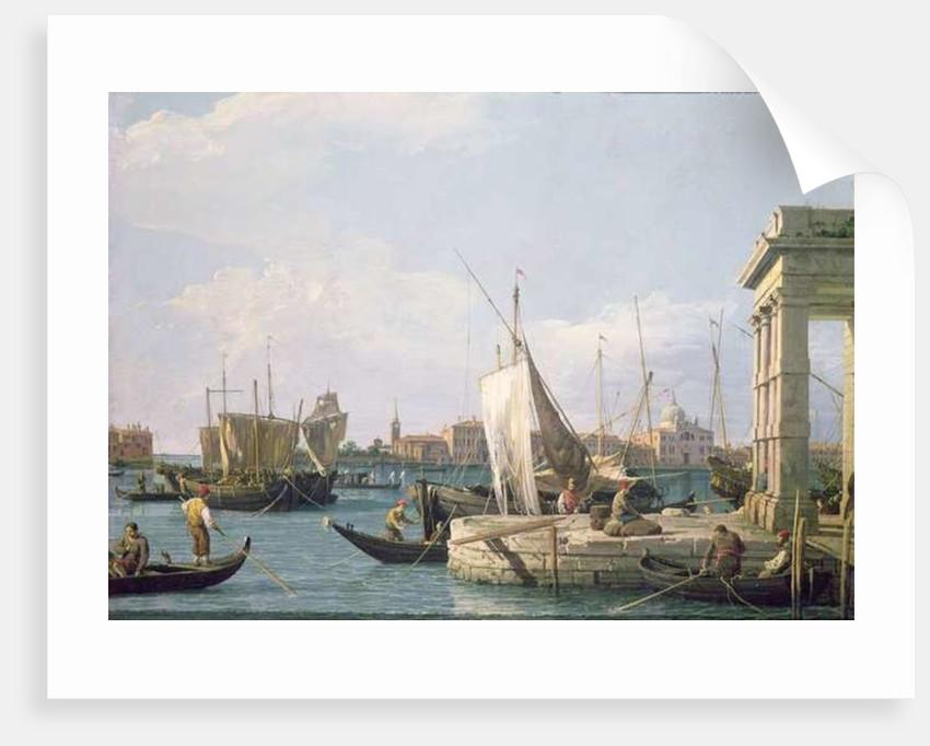 The Punta della Dogana by Canaletto