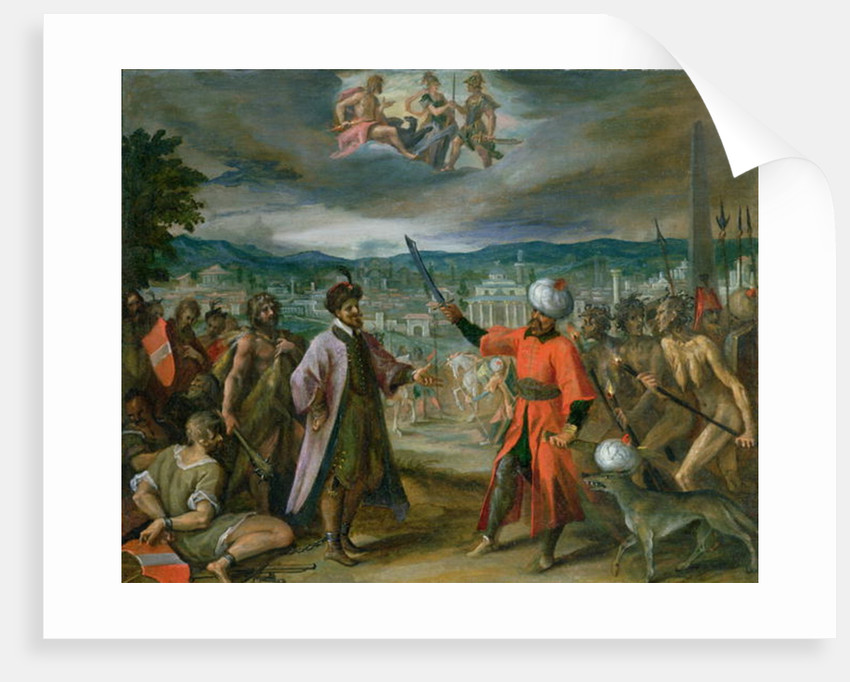 Allegory of the Turkish Wars: The Declaration of War at Constantinople by Johann or Hans von Aachen