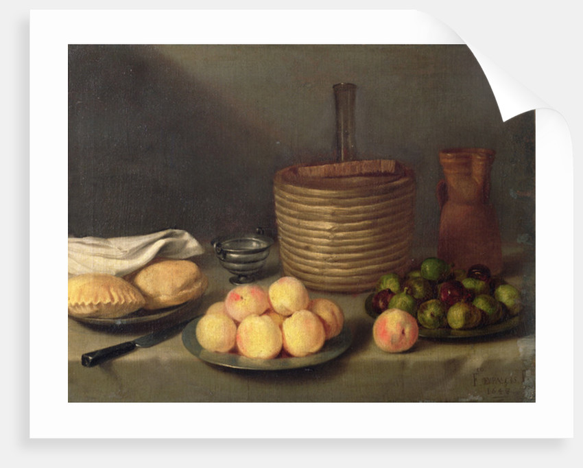 Still life with fruit by Francisco Palacios