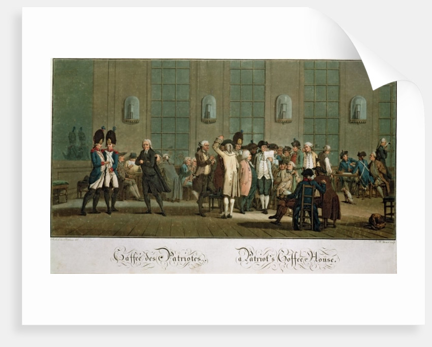 A Patriot's Coffee House (1st edition print) by Jean Baptiste Morret