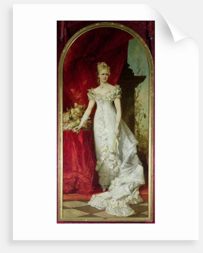 Crown Princess Stephanie of Belgium, consort to Crown Prince Rudolf of Austria by Hans Makart