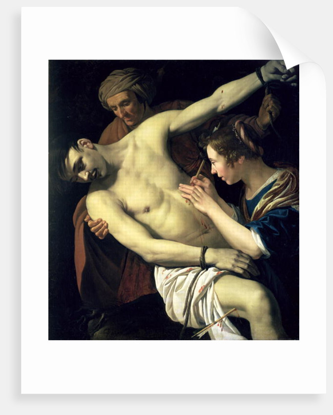 St. Sebastian and St. Irene by Jan van Bijlert or Bylert