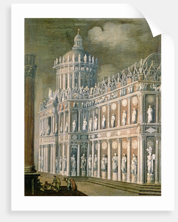 Architectural Fantasy depicting the healing of the paralysed by Francois de Nome