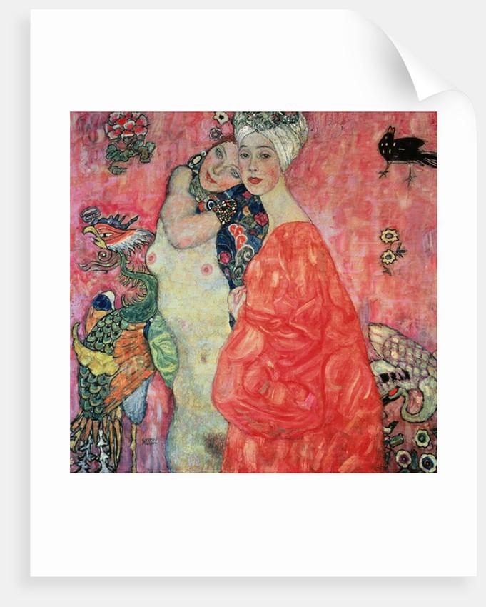 The Girlfriends by Gustav Klimt
