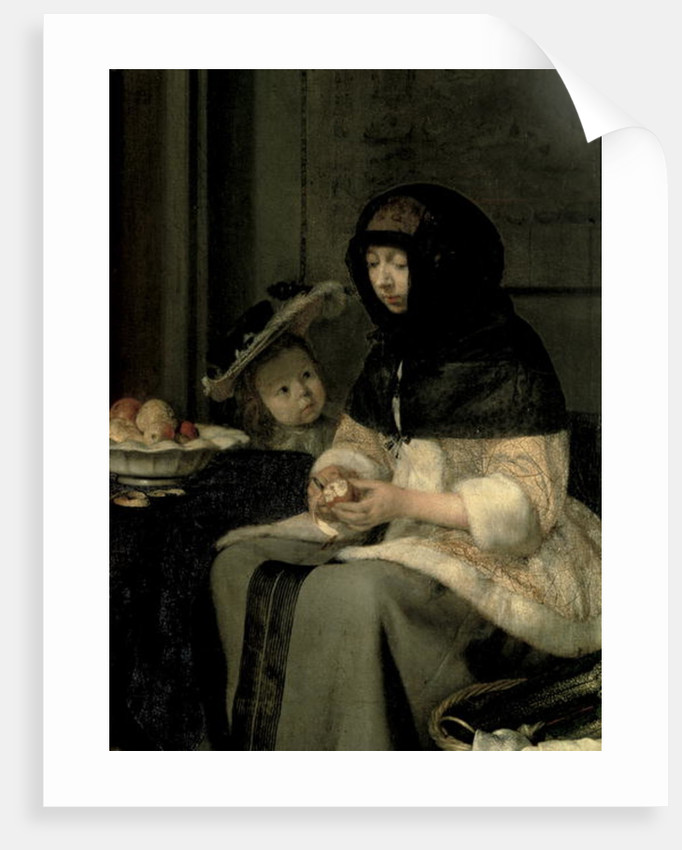 The Apple Peeler by Gerard ter Borch or Terborch