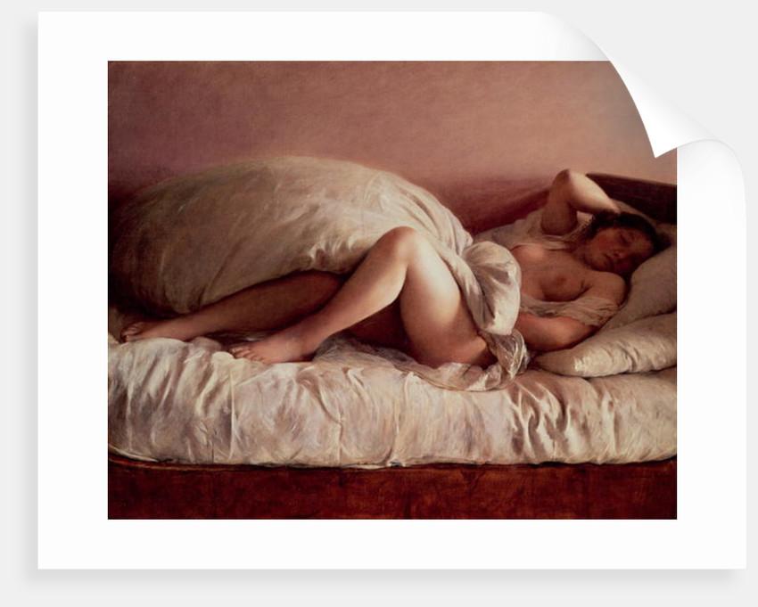 Sleeping woman, 1849 by Johann Baptist Reiter