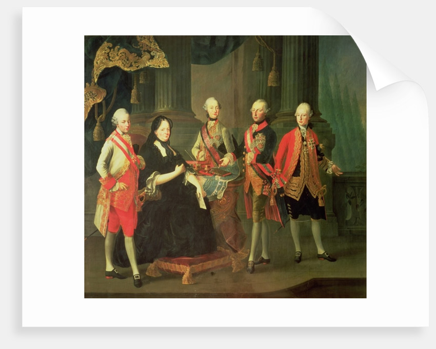 Empress Maria Theresa of Austria with four of her sons; Joseph, Ferdinand, Leopold and Maximilian by Louis Joseph Maurice