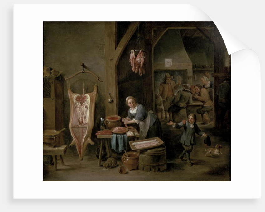 Sausage-making by David the Younger Teniers
