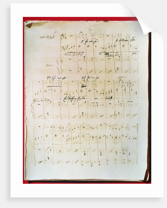 Original score of the Viennese Waltz 'The Blue Danube' by Johann Strauss the younger by Anonymous