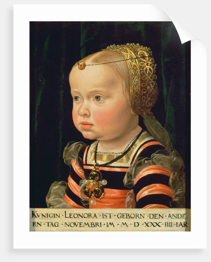 Archduchess Eleanor of Mantua, aged two by Jakob Seisenegger