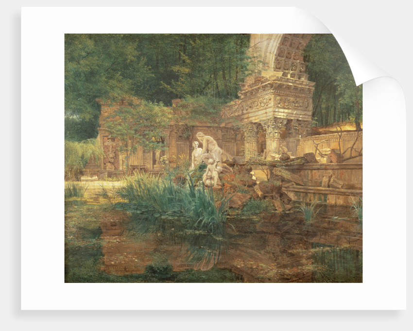 The Roman Ruins in the Gardens of Schonbrunn Palace by Ferdinand Georg Waldmuller