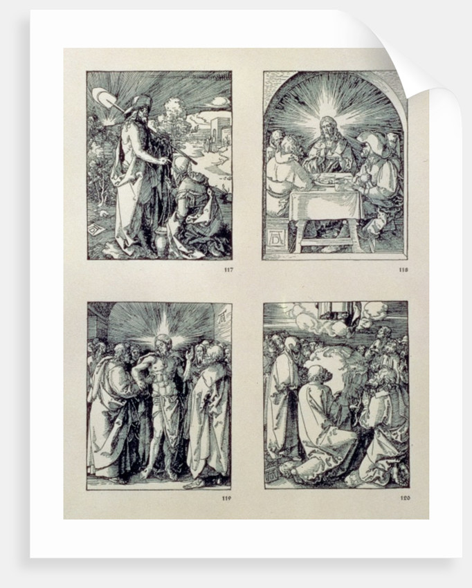 Christ appears to the Magdalen as a gardener; Christ at Emmaus; Christ and the doubting Thomas; Ascension by Albrecht Dürer or Duerer
