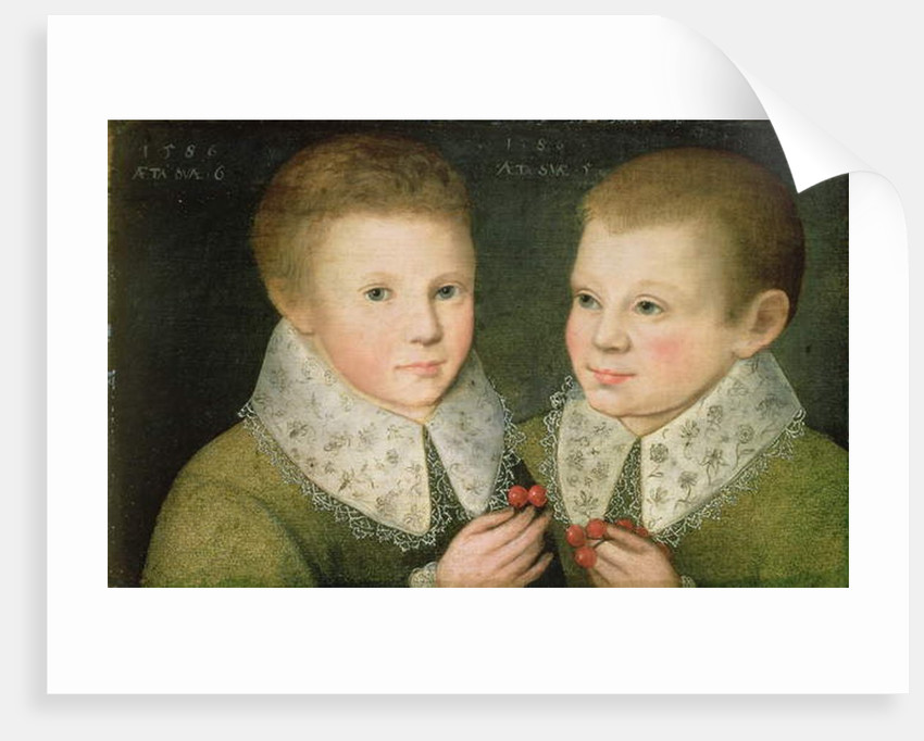 Portrait of Two Brothers, 1586 by Marcus Gheeraerts